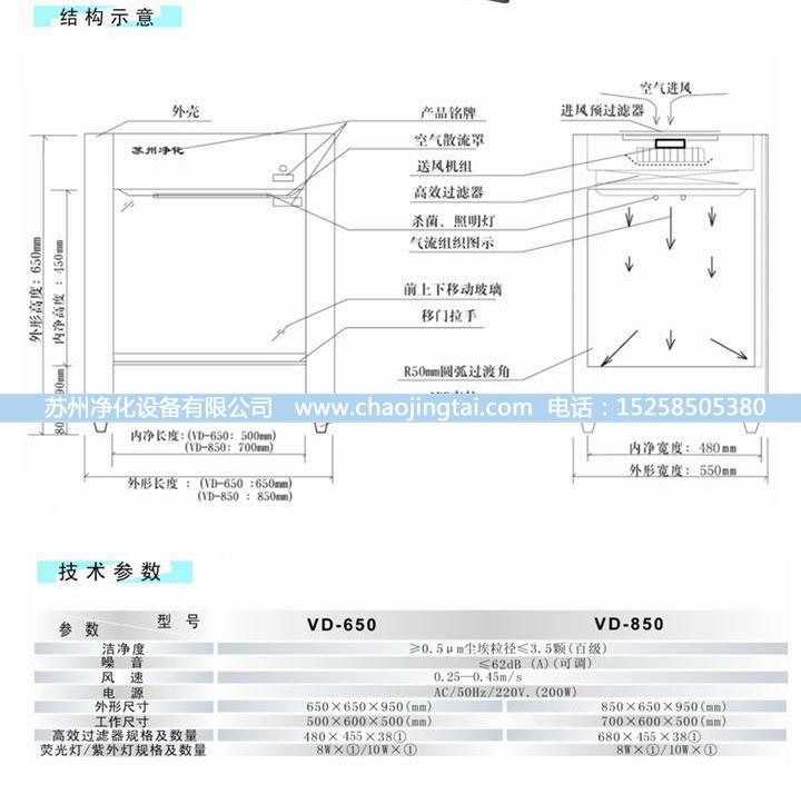 VD-650超净工作台 净化工作台 QS认证设备